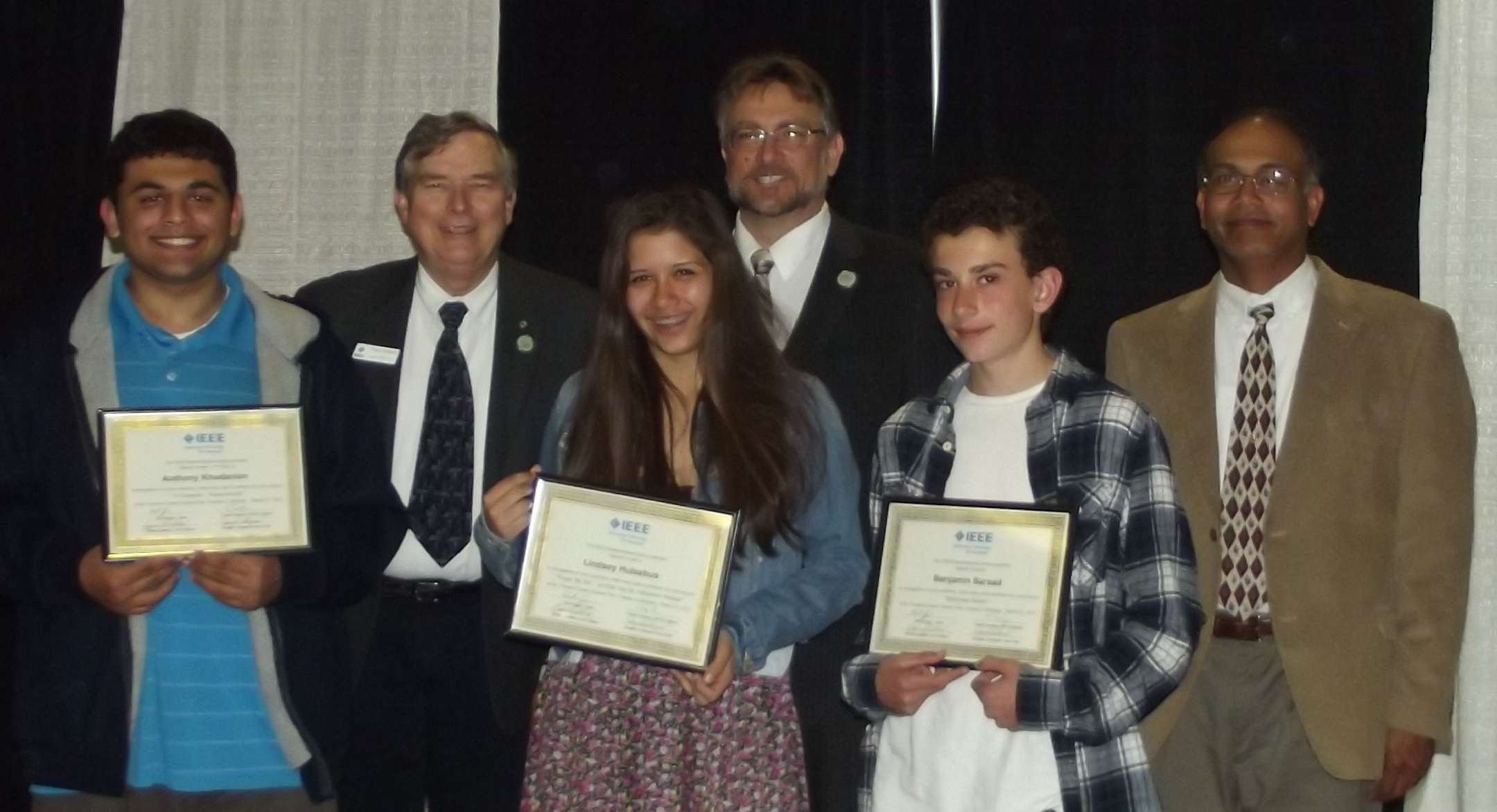 2012 Ventura County Science Fair IEEE Special Prize Winners